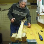 Fase iniziale nella costruzione dell'arco di osage
