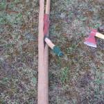 Un bel tronco di Osage all'inizio della lavorazione