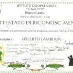 Attestato Roberto